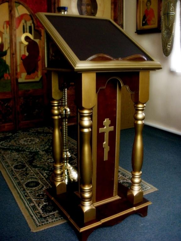 Боковой аналой с золотом купить Великая Кракотка